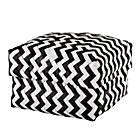 Medium Black Zig Zag Basket