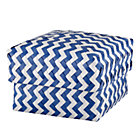Medium Blue Zig Zag Basket