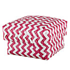 Medium Pink Zig Zag Basket