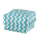 Small Aqua Zig Zag Basket