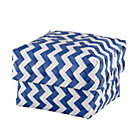 Small Blue Zig Zag Basket