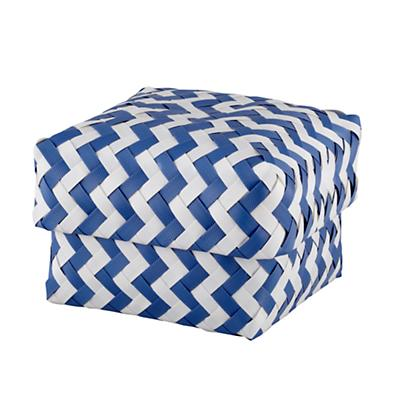 Small Zig Zag Basket (Blue)