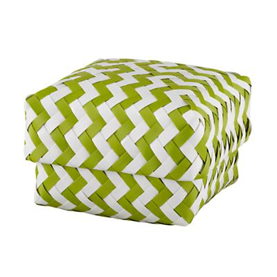 Small  Zig Zag Basket (Green)