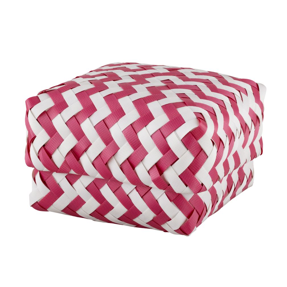 Small Zig Zag Basket (Pink)