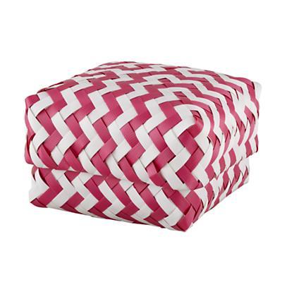Small Zig Zag Basket (Pink)