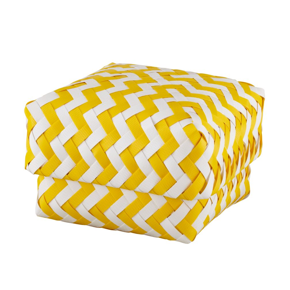 Small Yellow Zig Zag Basket