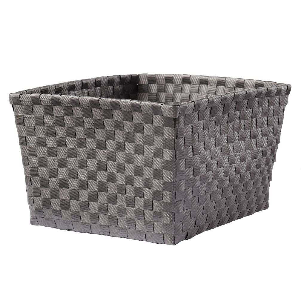 Strapping Shelf Basket (Dk. Grey)
