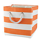 Orange Stripes Around the Cube Bin