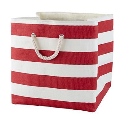 Stripes Around the Floor Bin (Red)