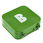 Green B Letter Metal Box