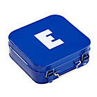 Blue E Letter Metal Box