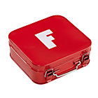Red F Letter Metal Box