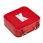 Red K Letter Metal Box