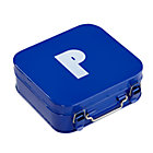 Blue P Letter Metal Box