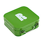 Green R Letter Metal Box