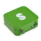 Green S Letter Metal Box