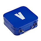 Blue V Letter Metal Box