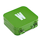 Green W Letter Metal Box