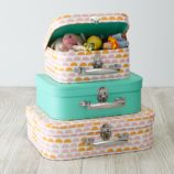 Bon Voyage Suitcase Set (Pink Pattern)