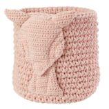 Wee Woodland Crochet Bin (Pink Deer)