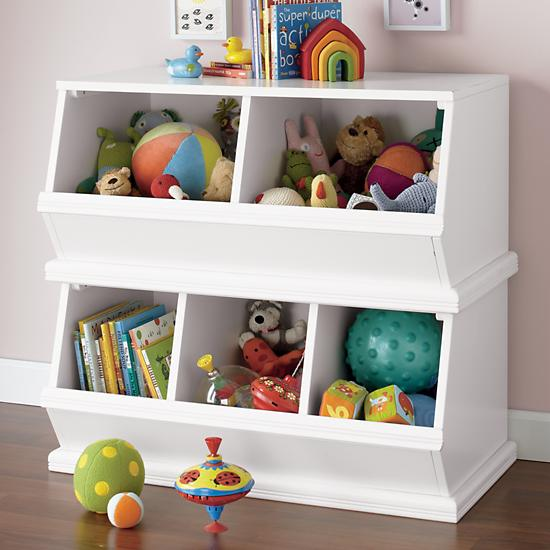 Storagepalooza kids stacking toy storage the land of nod Land of nod playroom ideas