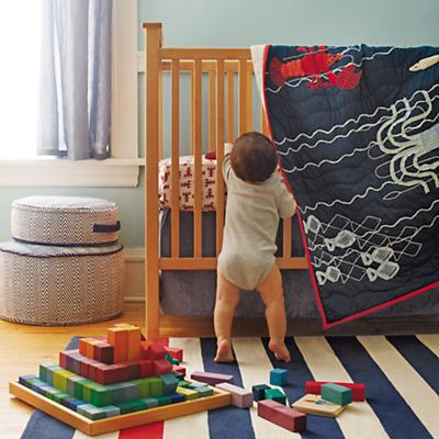 Catch of the Day Fitted Crib Sheet