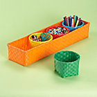 Orange 4 Bin Strapping Storage