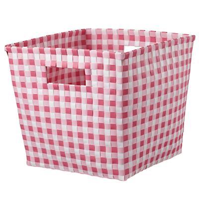 Gingham Cube Bin (Pink)