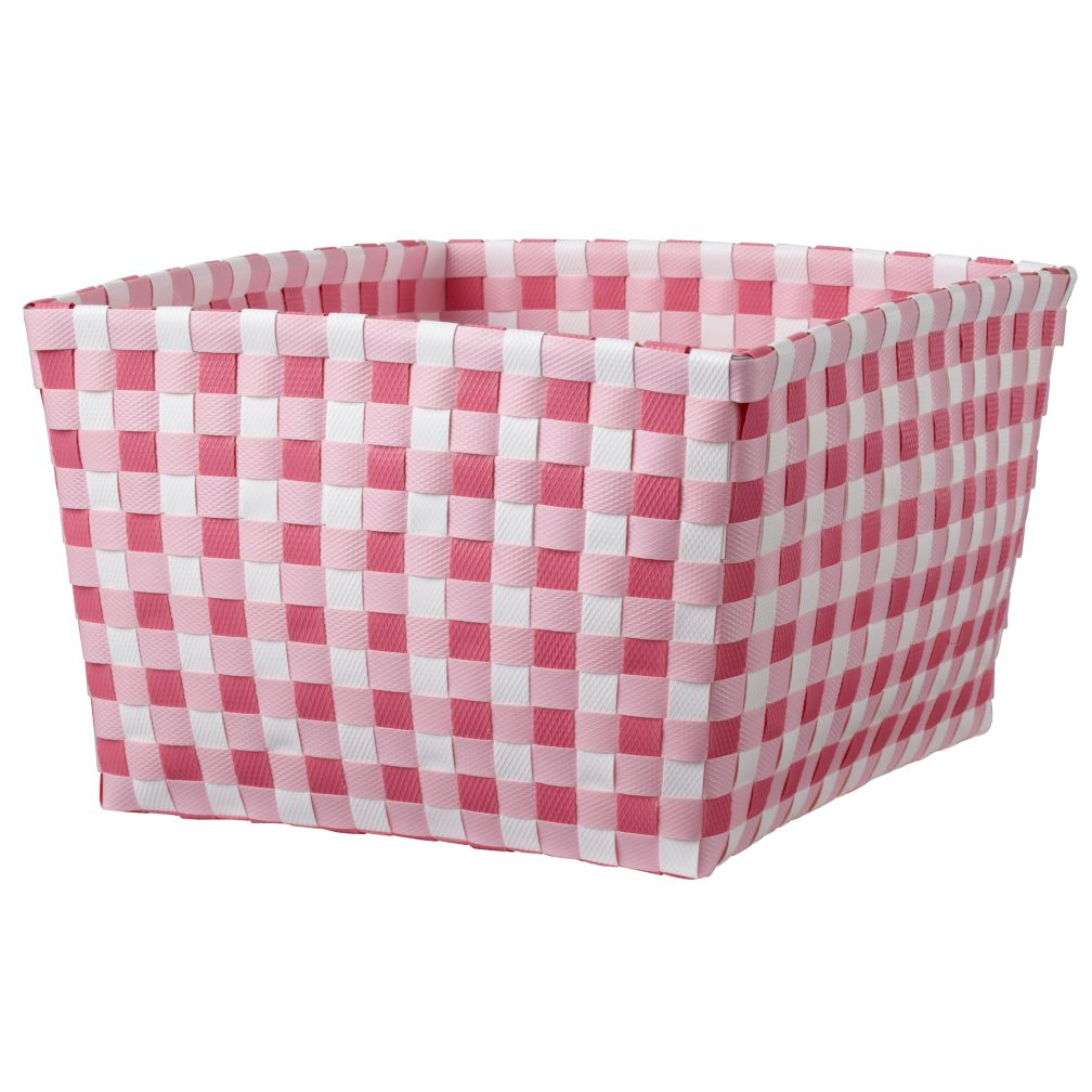 Gingham Shelf Bin (Pink)