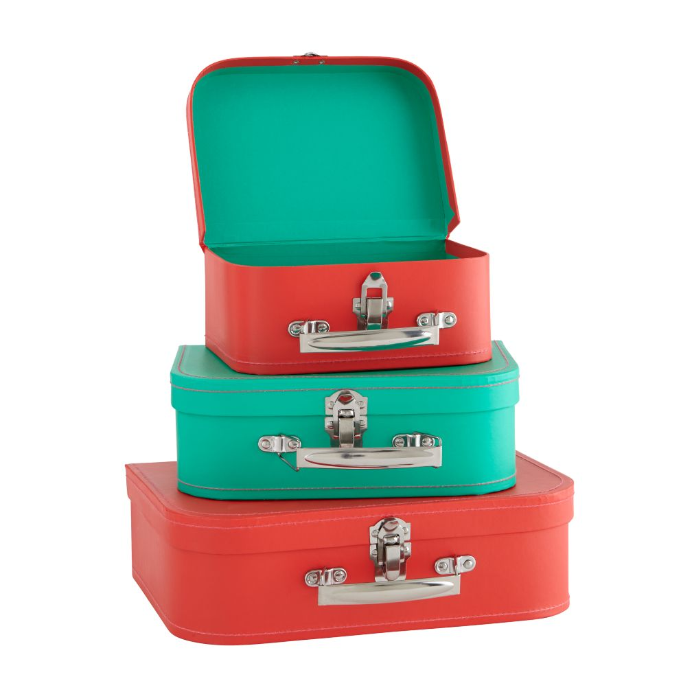 Holiday Suitcases (Red & Green)