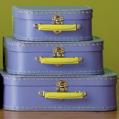 Lavender w/Lime Green Suitcases (Set of 3)