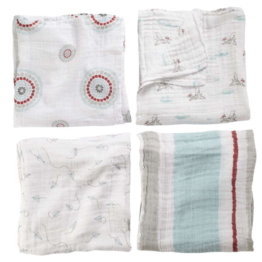 It's a Wrap Swaddling Blanket Set (Flying Dogs)