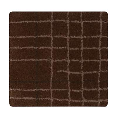 Brown Crosshatch Rug Swatch
