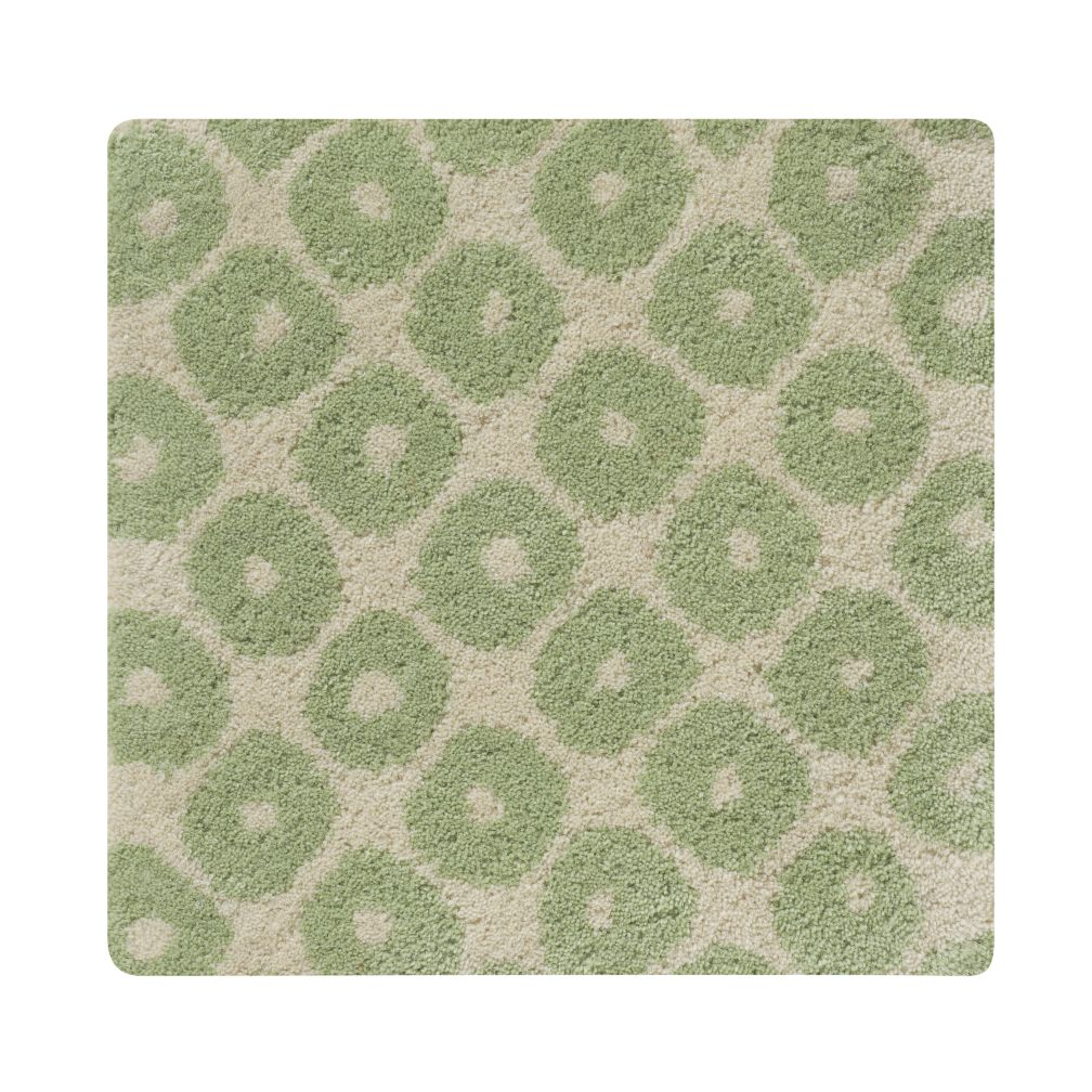Swatch Lt. Green Diamonds Rug