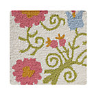 Swatch Cream Garden Floral Rug