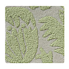 Swatch Green Raised Floral Rug