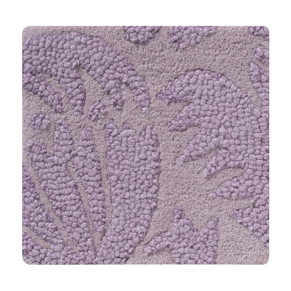 Lavender Raised Floral Rug Swatch