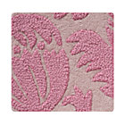 Swatch Pink Raised Floral Rug
