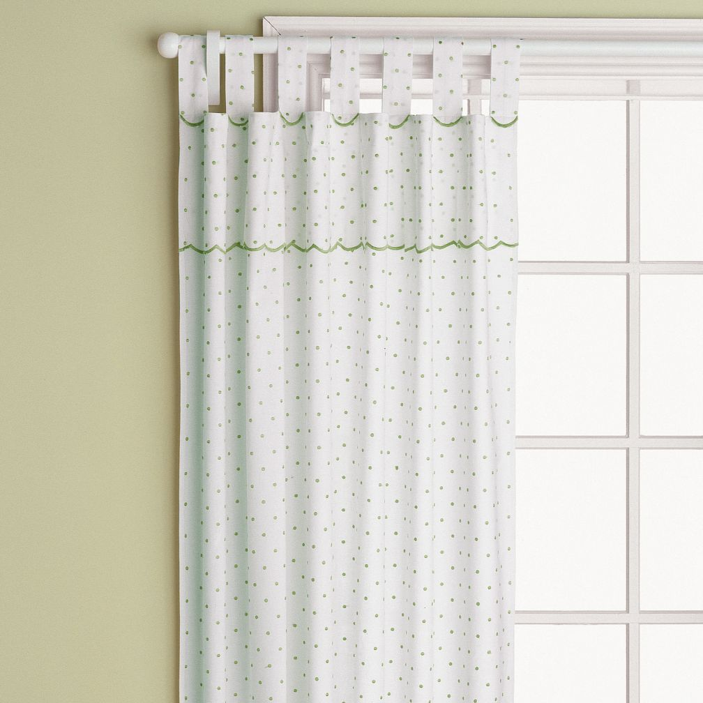 "63"" Swiss Dot Curtain Panel (Lime Green)"