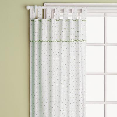 "84"" Swiss Dot Curtain Panel (Lime Green)"