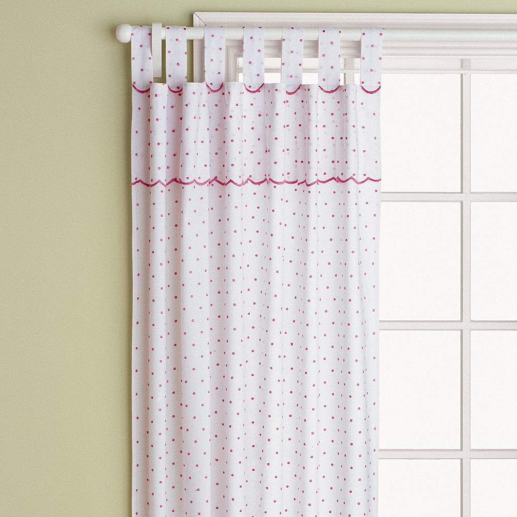 "84"" Swiss Dot Curtain Panel (Hot Pink)"