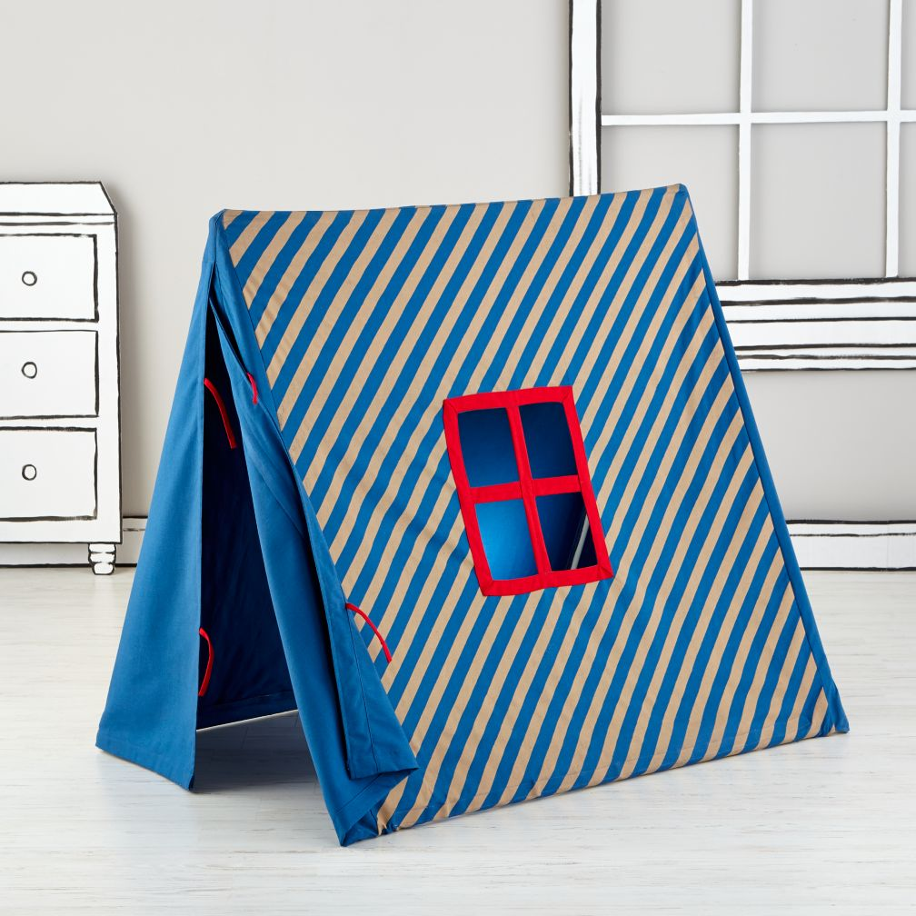 Indoor Explorer Pup Tents (Blue Stripe)