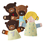 3 Bears & Goldilocks Hand Puppet Set