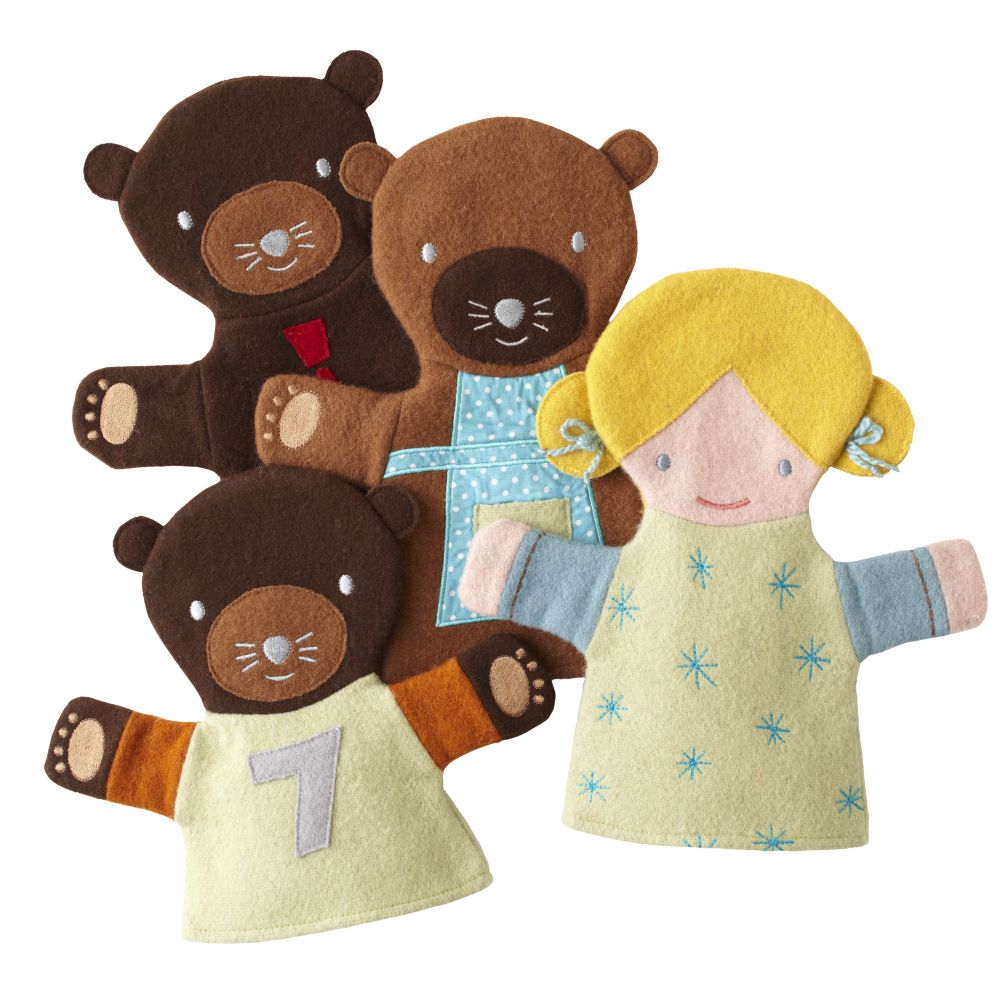 Goldilocks and Three Bears Hand Puppets (Set of 4)