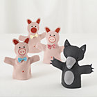 3 Little Pigs Hand Puppet Set