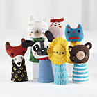 Finger Puppet Theater Troupe Set of 7