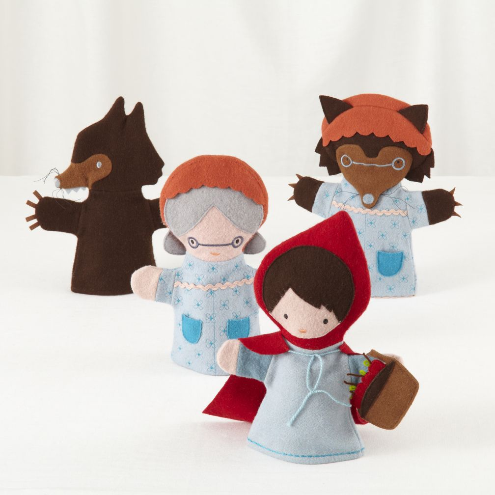 Little Red Riding Hood Hand Puppets (Set of 4)