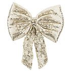 Gold Sequin Bow Tree Topper