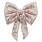 Pink Sequin Bow Tree Topper