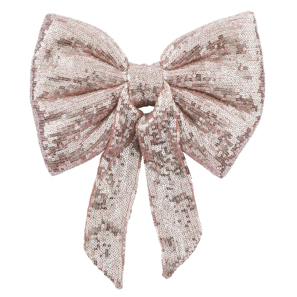 Sequin Bow (Pink)
